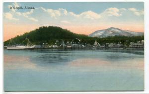 Wrangell Alaska Panorama 1910s postcard