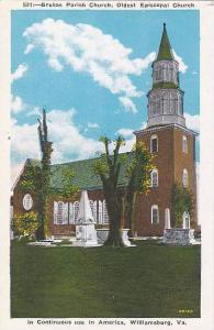 Bruton Parish Church, Oldest Episcopal Church, Williamsburg, Virginia, 1910-1...