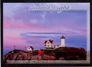 ME Nubble Lighthouse Cape Neddick YORK BEACH MAINE PC