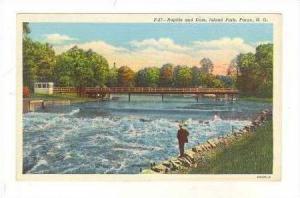 Rapids And Dam, Island Park, Fargo, North Dakota, 1944