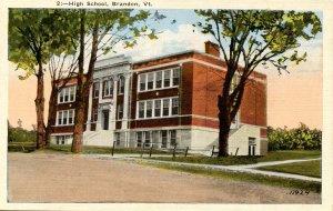 VT - Brandon. High School