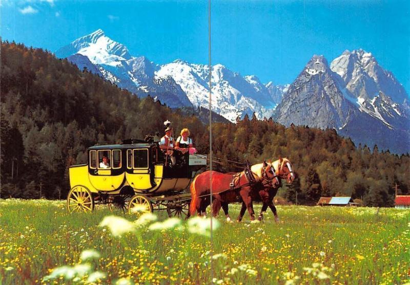 Romantische Postkutschenfahrt Garmisch-Partenkirchen Grainau Badersee Pferde