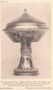 Henry 5th Duke Of Bedford Royal Gold Cup French War Wars Antique Postcard