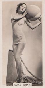 Alma Bray Hollywood Actress Rare Real Photo Cigarette Card