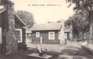 Westport New York Bay Breeze Cabins Vintage Postcard AA41302
