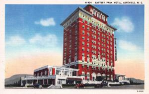 Battery Park Hotel, Asheville, North Carolina, early postcard, Unused