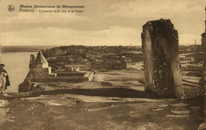 iraq, MOSUL MOSSOUL, Panorama of the City and the River (1920s) Mission