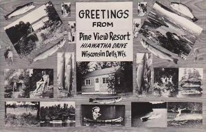 Wisconsin Dells Pine View Resort 1950 Real Photo RPPC