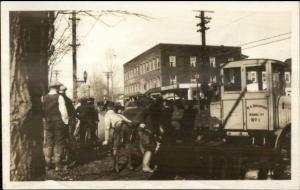 Barre or Barre VT Area 1927 Flood Damage Real Photo Postcard #1