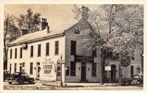 Bardstown Kentucky~Old Talbott Tavern Coffee Shop~Road Signs~40s Cars~1948 RPPC
