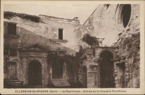 Villeneuve lez Avignon Gard Chartreuse Entree Chapelle Pontificale