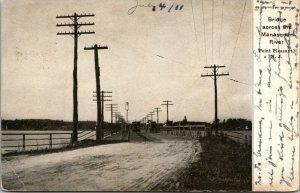 Vtg 1911 Bridge Across Manasquan River Point Pleasant New Jersey NJ Postcard