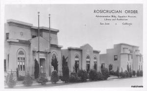1930s Rosicrucian Order San Jose California RPPC real photo postcard 3165