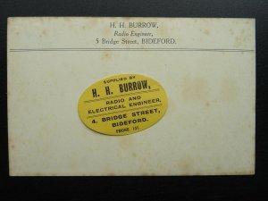 Devon BIDEFORD Advert H.H. BURROW Radio Engineer OSRAM VALVES c1920s Postcard