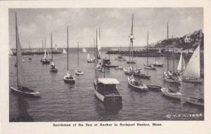 Massachusetts Rockport Sportsmen Of The Sea At Anchor in Rockport Harbor Albe...