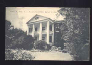 ROSALIE MISSISSIPPI D.A.R. SHRINE DAUGHTERS OF THE AMERICAN REVOLUTION POSTCARD