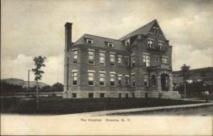 Oneonta NY Fox Hospital c1905 Postcard EXC COND