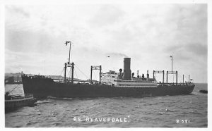 SS Beaverdale Canadian Pacific Steamship Co Ship Writing on back