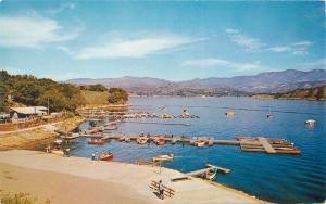 Ball Boat Landing 1940s Lake Cachuma California Roberts postcard 10843
