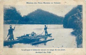 Fiji Oceania Pacific Islands native fishing boat pirogue Fidji Oceanie