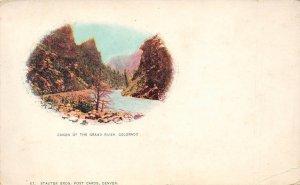 LP22 Canon Grand River   Colorado Vintage Postcard