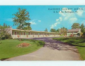Unused Pre-1980 HARBOR SUNSET MOTEL South Burlington Vermont VT s9270