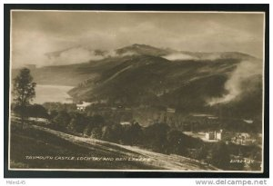 Taymouth Castle Loch Tay and Ben Lawers Scotland Valentines Real Photo Postcard