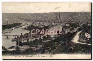 Old Postcard Rouen Panorama Taken From Bon Secours