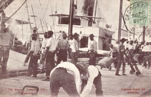 british guiana, DEMERARA, Loading Sugar for America (1905) Stamp
