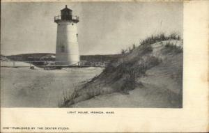 Ipswich MA Lighthouse c1910 Postcard Version #5
