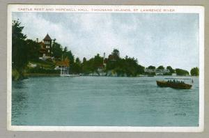 Castle Rest & Hopewell Hall, Thousand Islands, St Lawrence River unused Postcard