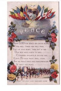 PEACE, Flag of Allied Countries, Prayer, Soldiers, When Boys Come Matching Home