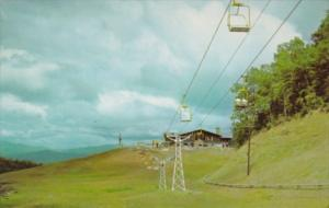 Tennessee Gatlinburg Double Chair Lifts Looking Toward The Lodge