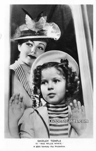 Child Movie Star Shirley Temple Post Card Old Vintage Antique Wee Willie Wink...