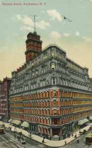 The Powers Block Building at Four Corners - Rochester NY New York - pm 1910 - DB