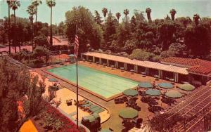 Los Angeles California pool scene Beverly Hills Hotel vintage pc ZA440648