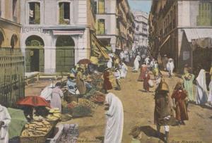 Alger Place Randon Rue Marengo Algeria Old Market Postcard