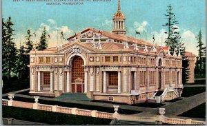1909 AYPE EXPO Seattle World's Fair Postcard MINES BUILDING Mitchell Unused