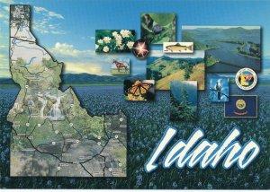 Map of Idaho the Gem State - Gem Star Garnet - State Dance Square