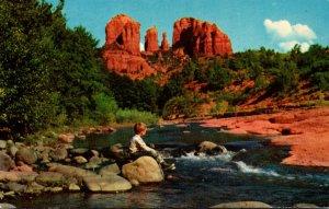 Arizona Oak Creek Canyon Cathedral Rock 1971