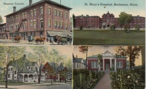 ROCHESTER, Minnesota,00-10s; Masonic Temple, St. Mary's Hospital, Library, Homes