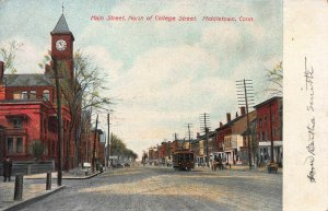 Main Street, North of College St., Middletown, CT, Early Postcard, Unused