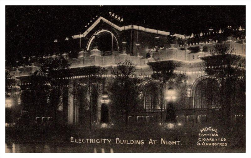 7077 Mogul Egyptian Cigarettes S.Anargyros  Electrity building at Night