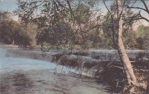 Kansas El Dorado Walnut River Dam Handcolored Albertype