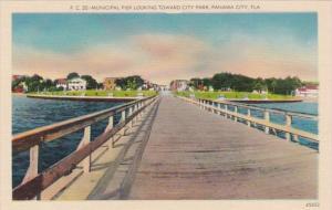 Florida Panama City Municipal Pier Looking Toward City Park