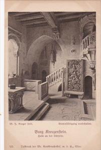 Austria Loebenstein Burg Kreuzenstein Halle an der Suedseite