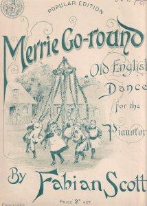Merrie Go Round Morris Folk Dance Dancing Fabian Scott Olde Rare Sheet Music
