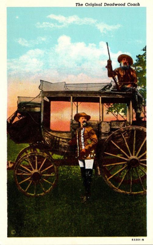 The Original Deadwood Coach Built At Concord New Hamshire 1867 Curteich
