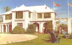 Bermuda Post card Old Vintage Antique Postcard Tom Moore's Tavern 1954