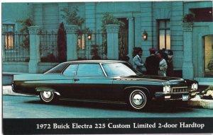 Classic Dealer Car Postcard 1972 BUICK Electra 225 Custom Limited 2-door Hardtop